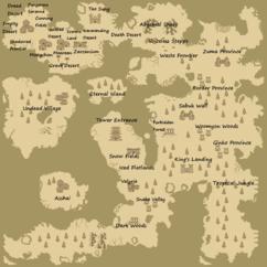 mapa świata i lokacji krainy empire